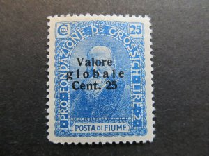 A4P5F5 Fiume 1919-20 surch 25c on 25c mh*
