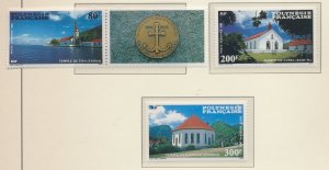 French Polynesia Stamps Scott #C221 To C223, Mint Never Hinged, #C-221 W/ Lab...