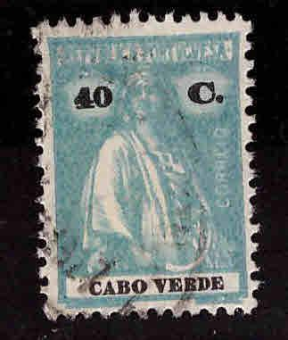 Cape Verde Scott 183L Used Ceres stamp