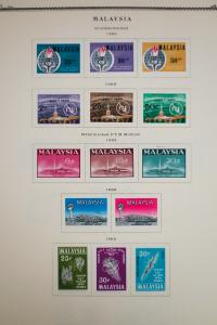 Malaysia 1960's to 1970's Stamp Collection