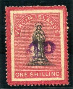 British Virgin Island 1888 QV 4d on 1s black & rose-carmine VFU. SG 42. Sc 18.