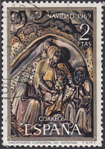 Spain # 1591 used ~ 2p Christmas -Nativity Bas-relief