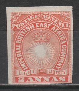 BRITISH EAST AFRICA 1890 LIGHT AND LIBERTY 2A IMPERF