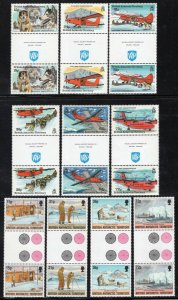 British Antarctic Territory 1994 2 Good Sets in Gutter Pairs MNH CV$63+