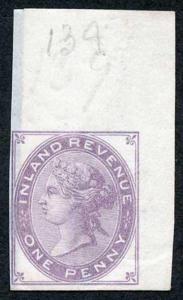1d Lilac Postal Fiscal SGF20-22 Imprimatur Plate 139