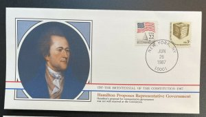 US #1584,2115 Used on Cover - Bicentennial of Constitution 1787-1987 [BIC13]