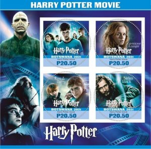 Stamps. Cinema Harry Potter Set 2 sheet perforated
