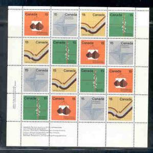 Canada Sc  582-5 1972 Earth Sciences stamp sheet  mint NH