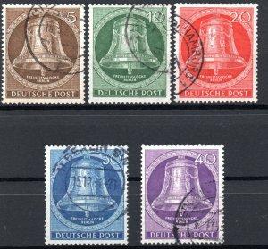 Germany Berlin 1953 #9N94-9N98 VF *USED* Bell Re-Engraving Complete Serie