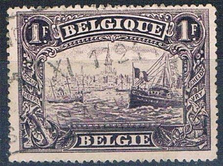 Belgium 119 Used River 1915 (MV0113)