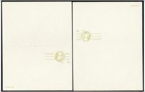 SC#UY37 14¢ + 14¢ George Wythe Type Double Postal Card Mint
