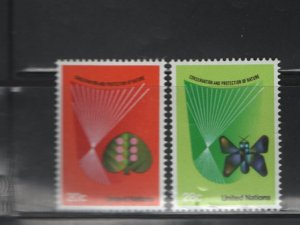 United Nations, 390-391 MNH, 1982 Conservation and Protection of Nature