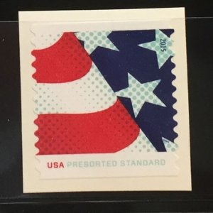 US #4961 Used VF on paper - USA PRESORTED STANDARD Stars and Stripes