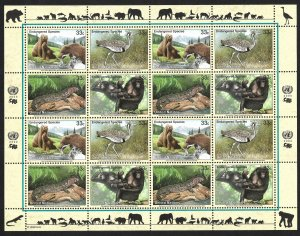 Doyle's_Stamps: 2000 U.N. Endangered Species Sheet Set