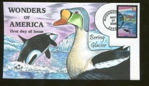 2006 Washington DC - Wonders of America - Bering Glacier - Collins FDC