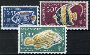 Comoro Island 1968 Fish, Seafishes 3 of 4v VF MNH