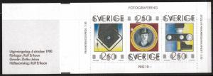 SWEDEN Sc#1844a Stamp Day, Photography, Booklet of 3 MNH