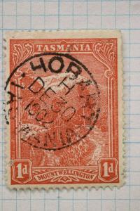 Tasmania sc#95 1d SOTN SON used city date cancel Hobart 1902