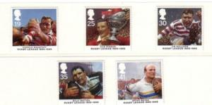 Great Britain Sc 1629-3 1995 Rugby League stamps mint NH