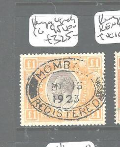KENYA AND UGANDA  (PP1606B) KGV L1 SG95 OVAL MOMBASA VFU