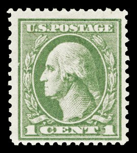 Scott 536 1919 1c Washington Offset Mint F-VF OG LH Cat $20