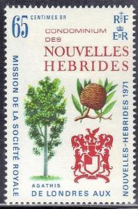 1971 New Hebrides 310 Trees 2,50 €