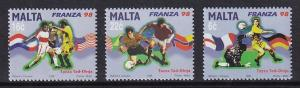 Malta   #950-952   MNH  1998   world cup football