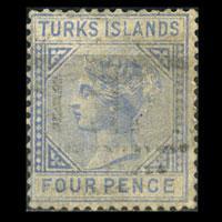 TURKS IS. 1881 - Scott# 43 Queen Set of 1 Used