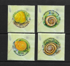 SNAILS - PITCAIRN ISLANDS #707-10  MNH