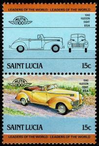 St Lucia #739  MNH - Classic Cars Vintage Automobile Hudson Eight (1985)