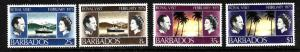 Barbados-Sc#416-9-unused NH set-QEII-Royal Visit-1975-