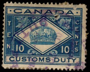 Canada - 10 cent - Customs Duty - Used