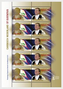 Stamps Caribbean Netherlands 2015. - King Stamp 2015 (St. Estatius) - Sheet