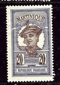 Martinique 73 MHH 1908 issue    (ap5421)