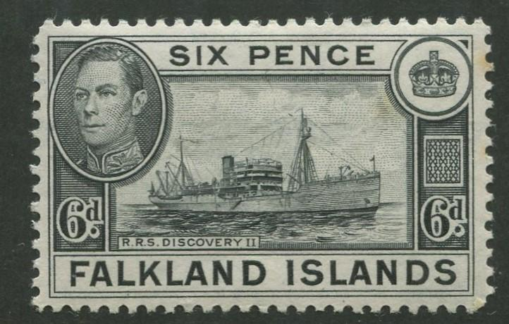 Falkland Is - Scott 102 - KGVI Definitive -1949- MH - Single 6p Stamp
