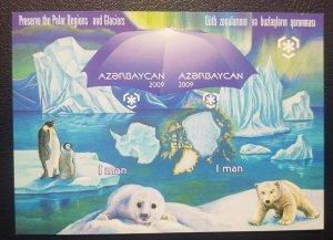 O) 2009 AZERBAIJAN,PROOF, PRESERVE THE POLAR REGIONS AND GLACIERS - PENGUIN.