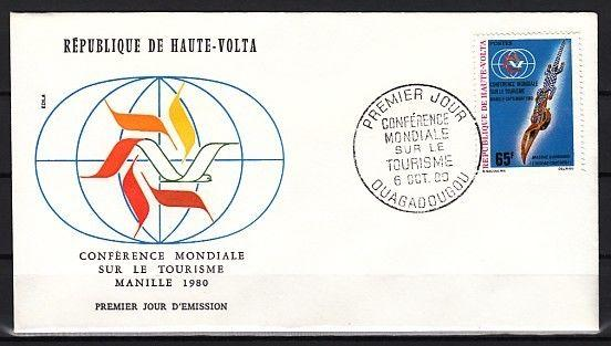 Burkina Faso, Scott cat. 544. Tourism issue with Crocodile on a First day cover.
