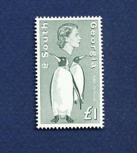 SOUTH GEORGIA   - # 16  - VFMNH - King Penguin, bird - 1969