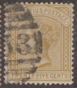 Mauritius Scott #74 Stamp - Used Single