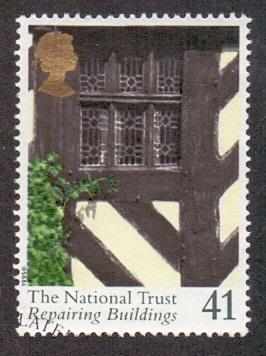 Great Britain 1995 used national trust  41p Elizabethan window   #