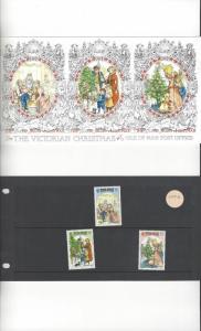 Isle of Man 344-6  Victorian Christmas  MNH Presentation Folder