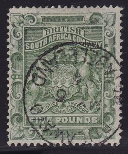 Rhodesia Scott # 18 VF CDS cancel nice color cv $ 500 ! see pic !