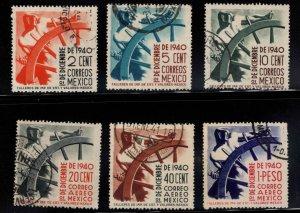 Mexico Scott 764-766, C114-116 Used  stamp set