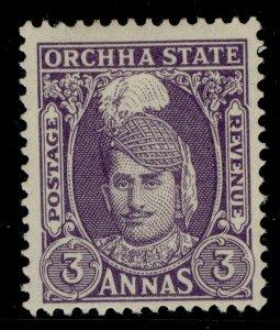 INDIAN STATES - Orchha GVI SG39, 3a slate-violet, M MINT.