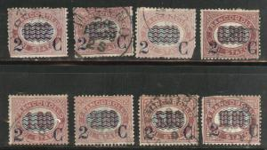 ITALY Scott 37-44 Used set CV$146 most have faults