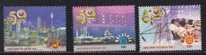 Malaysia 733-735 & 736-737, Electricity Board 50th Anniversary, NH, 1/2 Cat.