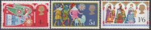 Great Britain #605-7 MNH