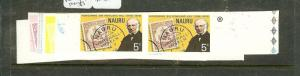 NAURU  (P0508B) ROWLAND HILL PROOFS 3 STAMPS 6 PAIRS EACH ASST COLORS MNH  RARE