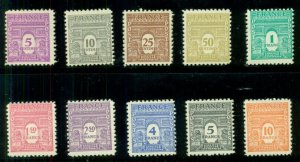 FRANCE #475-76H, Complete set, og, NH, VF, Scott $29.75