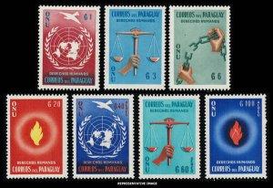 Paraguay Scott 565-568, C269-C271 Mint never hinged.